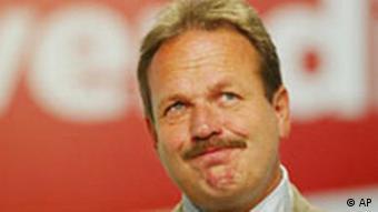 Der Ver.di-Vorsitzende Frank Bsirske 1. Ordentliche Bundeskongress der Gewerkschaft Ver.di in Berlin