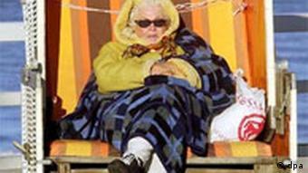 Sonnenbaden auf Sylt in Winter