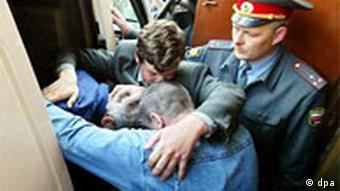 Verhaftung von Mafia Mitglied in Russland