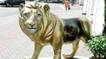 Der Saarbrücker Löwe, das Wahrzeichen der Stadt