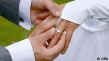 Hochzeit mit Ehering