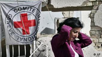 Hauptquartier Internationales Rotes Kreuz in Bagdad Irak, Pressesprecherin Nada Doumani