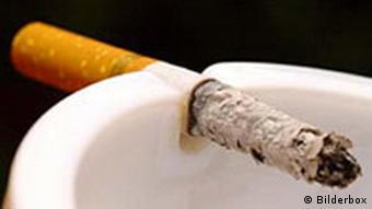 Cigarette in ashtry