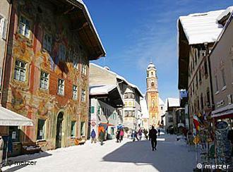 Mittenwald's frescoed buildings