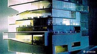 Bootschaft der Niederlande in Berlin Architekt Rem Koolhaas Modell
