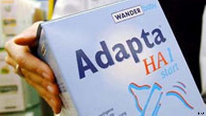 Babynahrungsmittel Adapta HA-1 vom Markt genommen