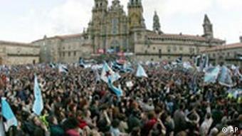 Mass demonstration in Santiago de Compostela on the anniversary of the Prestige disaster in