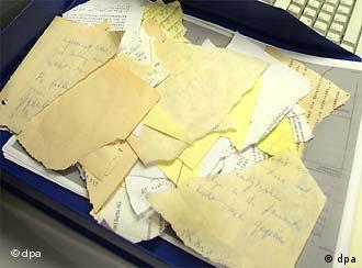 Scraps of documents