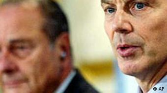 Tony Blair und Jacques Chirac in London