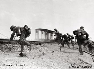 German soldiers attacking in Russia