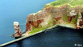 Helgoland's Long Anna rock seen from above