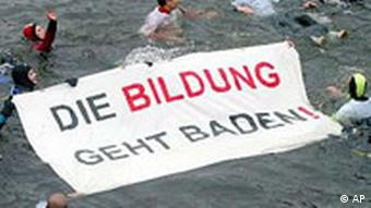 Die Bildung geht Baden Studentendemonstration Berlin