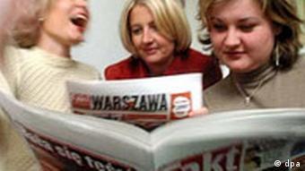 Zeitung Fakt Springer Presse in Polen