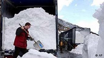 Schnee Transport Export für Weltcup