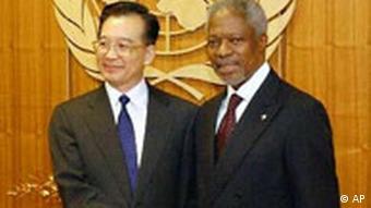 Wen Jiabao bei Kofi Annan