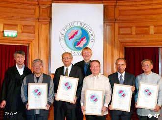 Jakob von Uexkull and Right Livelihood Award winners