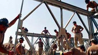 Wiederaufbau in Irak Brücke