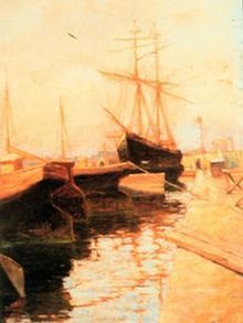 Le port d'Odessa, huile sur toile, par Wassilij Kandinski, 1896-98.