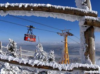 Oberwiesenthal's aerial tram