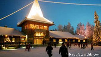 Das Haus des Weihnachtsmanns in Finnland