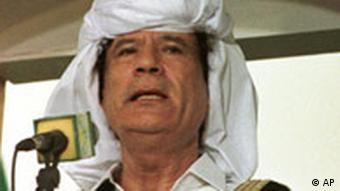 Libyen Präsident Moammar Gadhafi Muammar al-Gaddafi Porträtfoto
