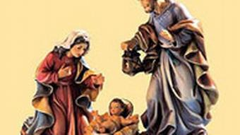 Jesus, Mary and Joseph manger figurines