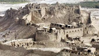 The destroyed historic fortress of Bam