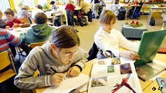Unterricht im Klassenzimmer Schüler