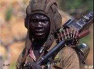 A soldier from the Sudan People's Liberation Army (SPLA)