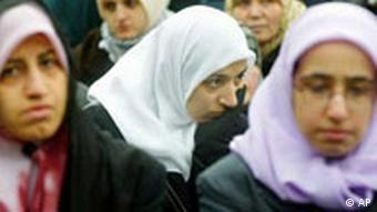 Turkish women in headscarves, Berlin