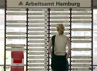 Arbeitsamt in der Hamburger Innenstadt
