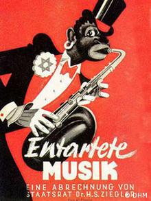 Poster for an exhibition dedicated to degenerate music