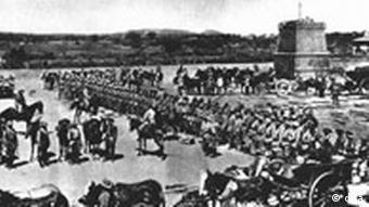 Aufmarsch gegen aufständische Herero
