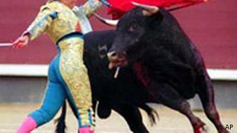 Stierkampf in Spanien Frau