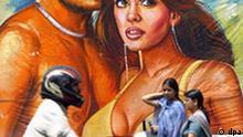 Filmplakat Indien Filmindustrie Bollywood Straßenszene Neu Dehli