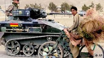 Bundeswehr Panzer in Afghanistan