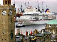 En el puerto de Hamburgo.