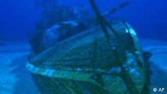 Kriegsschif Graf Spee auf dem Meeresgrund