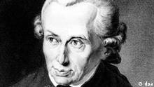 Der deutsche Philosoph Immanuel Kant (Kritik der reinen Vernunft). Stich von J. L. Raab nach einem Gemälde von Döbler aus dem Jahr 1781.
