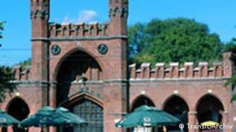 Roßgarter Tor der alten Stadtmauer in Kaliningrad