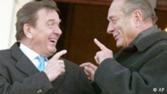 Informelles Treffen, Schröder Chirac in Berlin