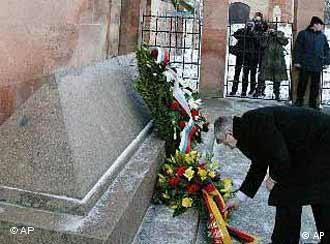 Ministro do Partido Verde depositou flores no túmulo do filósofo
