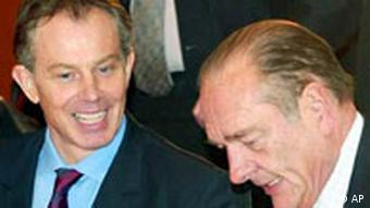 Gipfel in Berlin Tony Blair und Jaques Chirac
