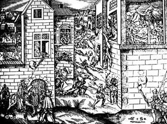 Gravura da época registrou os horrores da 'Noite de São Bartolomeu'