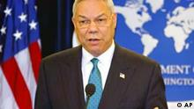 Secretary of State Colin Powell speaks to reporters on the release of the State Department's 2003 Country Reports on Human Rights Practices, at the State Department Wednesday, Feb. 25, 2004 in Washington. The State Department hailed on Wednesday human rights gains in Iraq and Afghanistan but said there was backsliding in China on key rights issues and electoral manipulation by authorities in Russia. (AP Photo/Charles Dharapak)