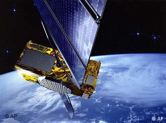 An artist's rendering of the satellite GalileoSat, part of the satellite navigation network Galileo