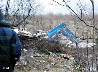 Урнатиот авион на претседателот Трајковски (архива)