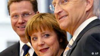 С Ангелой Меркель и Эдмундом Штойбером