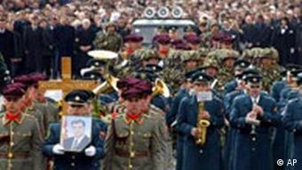 Beerdigung von Boris Trajkovski in Mazedonien