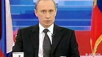 Wladimir Putin im russischen Fernsehen